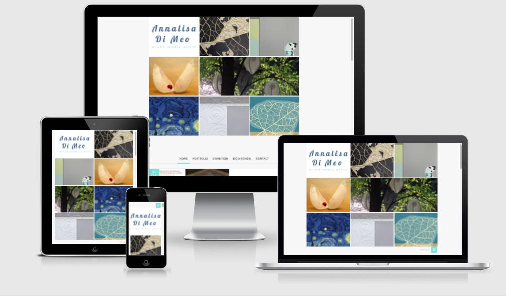 Realizzazione sito internet per l'artista bresciana Annalisa Di Meo