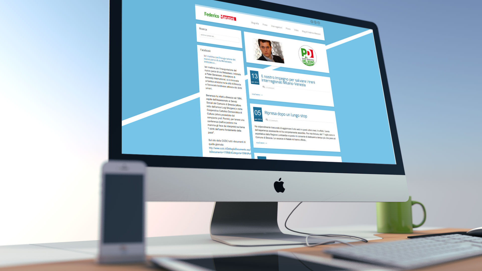 Realizzazione sito internet di Federico Manzoni